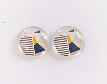 The 'Scandi Apple' Glass Earring Studs