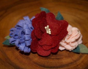 Baby headband || Pick your colors || FREE SHIPPING || Felt flower headband