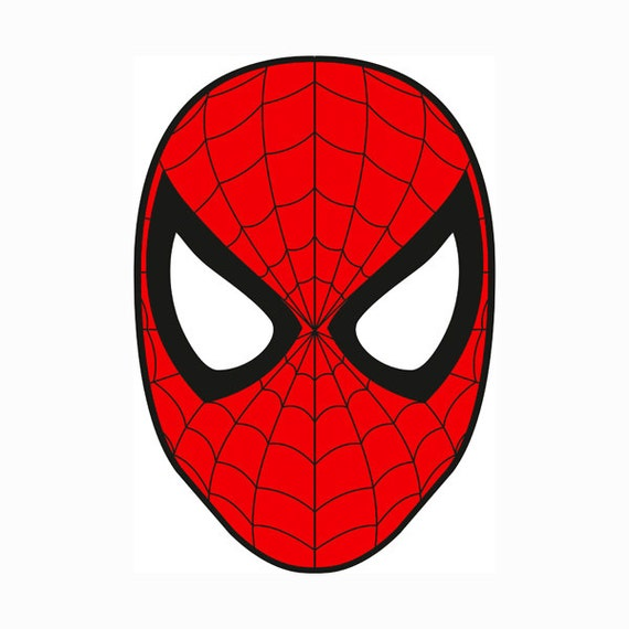 Spiderman Mask Layered SVG Dxf EPS Logo Vector File Silhouette