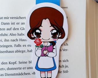 Magnetic bookmark 'Belle' - inspired by beauty and the beast
