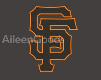 San Francisco Giants Embroidery design 8 Size  INSTANT download machine embroidery