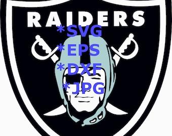 TODAY SALE 20% Oakland Raiders Logo SVG  Eps Dxf Jpeg Format Vector Design Digital Silhouette Studio Cameo Cricut Design Cutting Machines