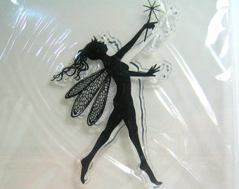Beautiful Winged Fairy with Wand Clear Stamp