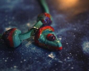 Rainbow pie necklace