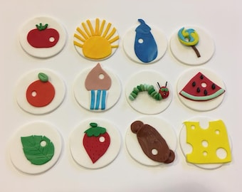 The Very Hungry Caterpillar Fondant Cupcake Toppers