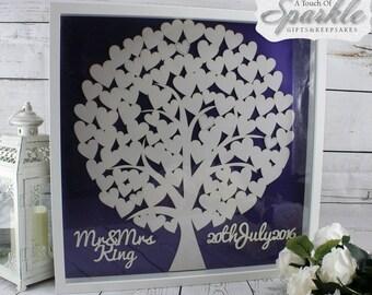 Large Wedding Tree Box Frame Keepsake Gift Idea