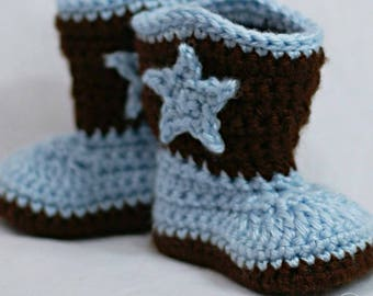 Crochet Cowboy Boots, Western Booties, Baby reveal, Crochet Boots, Baby Boots, Western boots, Crochet Boots, Photo Prop, Western Photo Prop