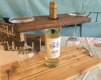 Wine Bottle Holder. Wine Glass Holder. Wine Bottle Display. Bar Display. Bar Decor.