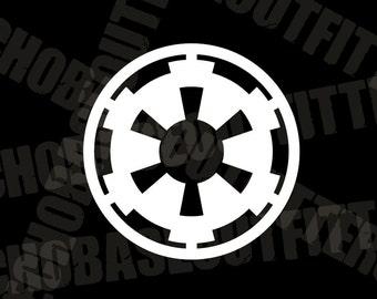 Imperial Cog vinyl cut decal Star Wars Empire sticker 501st Legion