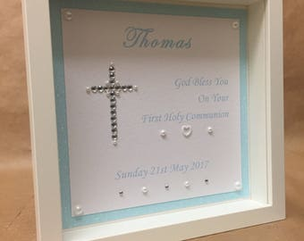 Personalised Holy Communion or Christening gift frame.