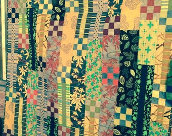 Nine Patch Stripes Quilt Pattern