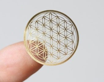 flower of life deal, flower of life sticker, 0.87inches(22mm), 4pieces in 1 sheet.