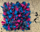 Snuffle Mat (Blue, grey, and pink)