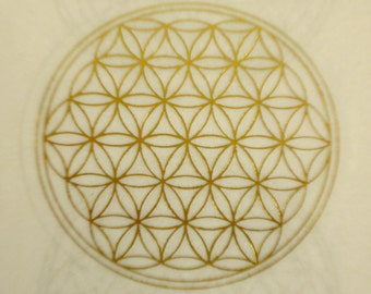Flower of life transparent adhesive labels sacred geometry