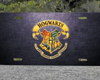 Hogwarts Harry Potter Metal License Plate Gift