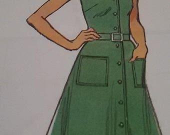 Vintage Beach dress size 40/french vintage dress
