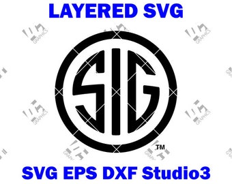 Sig Sauer Logo - Cutting File in SVG, EPS, DXF, and Studio3 - Cricut, Silhouette Cameo Studio - Make The Cut - Instant Download