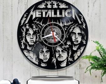 Metallica vinyl clock. Wall clock. 2/2/8 Vinyl record clock, Rock Band, Heavy Metal, Hard Rock, Gift