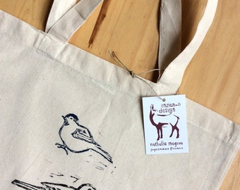 Tote bag two birds