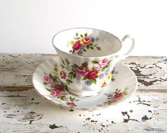 Classic porcelain 'Royal Albert' cup and saucer
