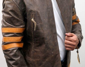 X-men Wolverine Special Edition Genuine Cowhide Vintage Distress Leather Jacket