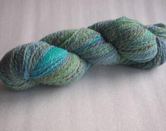 Handspun yarn: Blue Scirocco