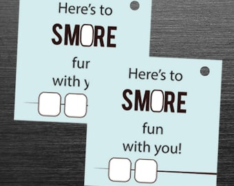 Smore Fun Tag, Smore Favor Tag, Smore Party, Smore Tag, Birthday Party, Stickers, Labels,