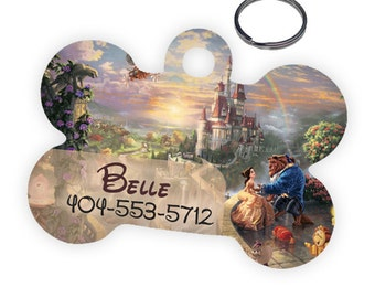 Disney Beauty and the Beast Custom Personalized Pet ID Tag for Dog