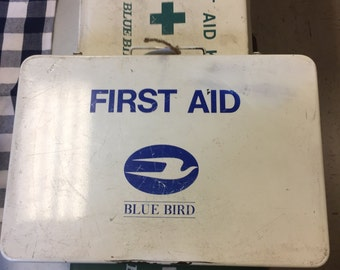 Vintage metal first aid kit