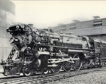 Near Mint Real Photo Postcard US Railway, New York Central, STEAM LOCOMOTIVE #9235 ~ Outstanding