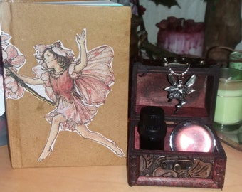 fairy connection meditation kit oil crystal ball necklace journal book decoupage