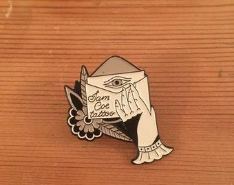 Custom Enamel tattoo pins - Only 100 made