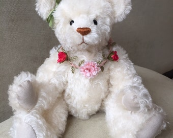Flower - artist made, hand-made, mohair, teddy bear, collectible, one-of-a-kind