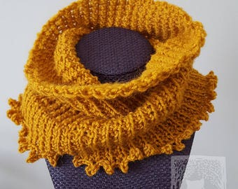 Goldenrod Cowl, 100% Wool, Neckwarmer