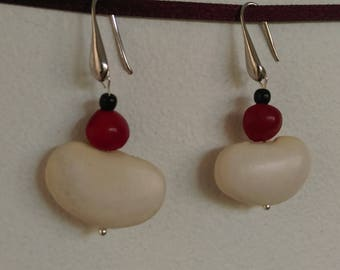 Natural Earrings: beans beans and seed Church