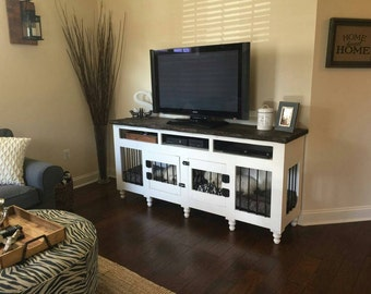 Custom Dog Kennel/ Entertainment Center