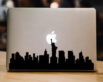 New York Decal Skyline Macbook Decal Laptop Decal Laptop Sticker Macbook Sticker NYC Decal New York Laptop Decal New York Macbook Decal 071