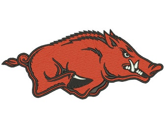 7 Size Arkansas Razorbacks Embroidery Design College Football Embroidery Designs Instant Download Machine Embroidery Designs PES