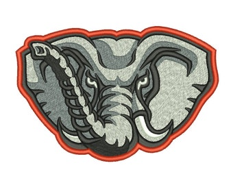 7 Size Alabama Crimson Tide Elephant Embroidery Design College Football Embroidery Designs Instant Download Machine Embroidery Designs PES