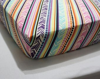 Baby Bedding tribal Crib Sheet tribal nursery Gender neutral baby bedding girl crib sheet toddler bedding girl