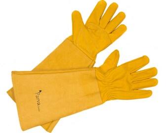 Women's Gardening Gloves, Elbow Length Garden Gloves offer Superior Protection - Best for Pruning Roses, Cactus, Blackberry Bushes