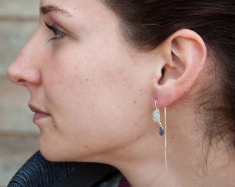 Mother of Pearl Dasiy threader earrings