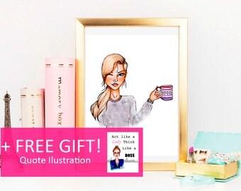 Fashion Illustration: Coffee +FREE gift