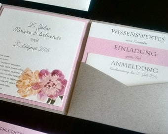 Flower printable wedding invitation