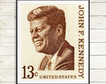 John F Kennedy posters, JFK wall decor, President Kennedy portrait, John Kennedy wall art, USA history classroom, history teacher gift ideas