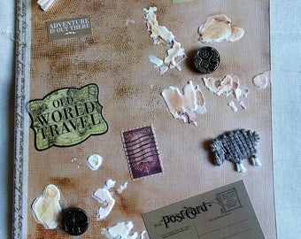 Notebook wrecked shabby chic and vintage theme travel, geography