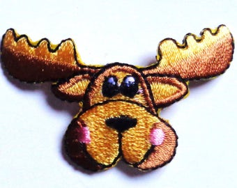 MOOSE HEAD SMALL -iron on applique