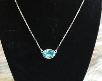Swarovski Crystal Sterling Silver Necklace.