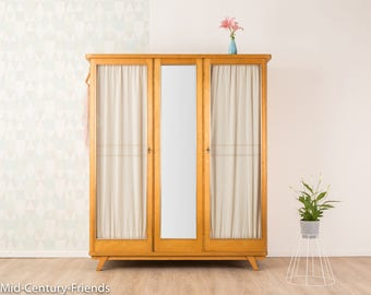 50s wardrobe, chest of drawers, 60s, vintage (710038)