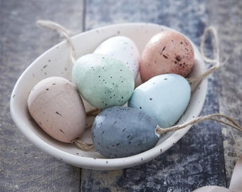 Easter Decorations - Speckled Eggs Set of Six